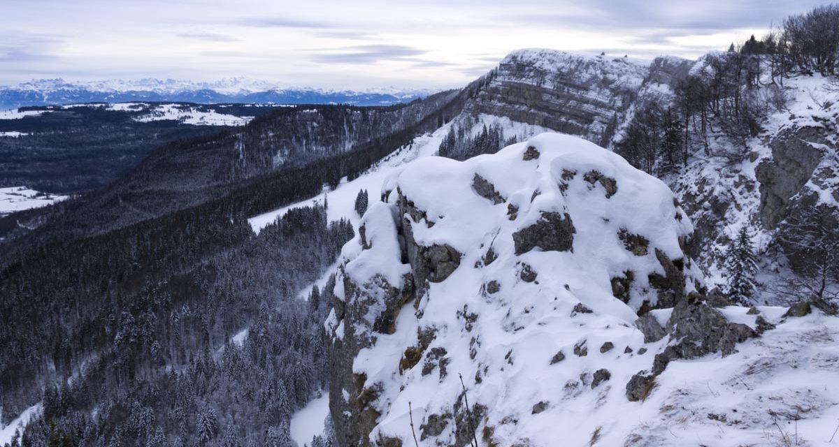 Randonnée raquettes au Mont d'Or depuis Métabief