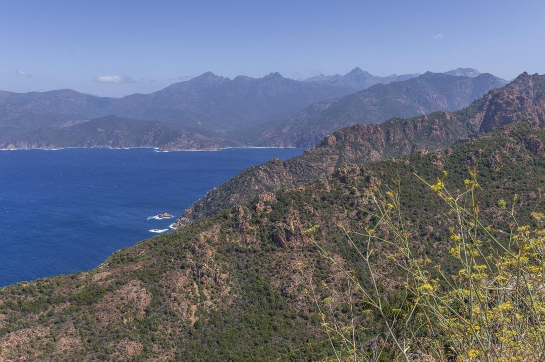 Panorama sur le Golfe de Porto en Corse