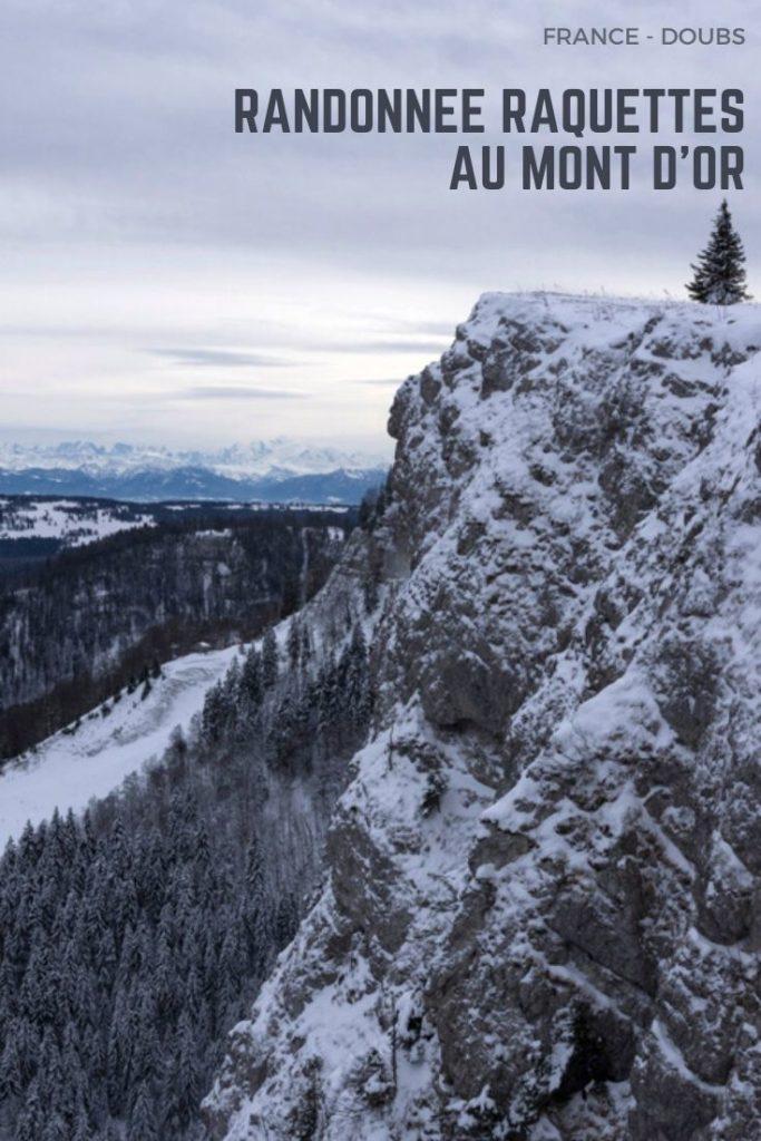 randonnée raquettes sur les Crêtes du Mont d'Or