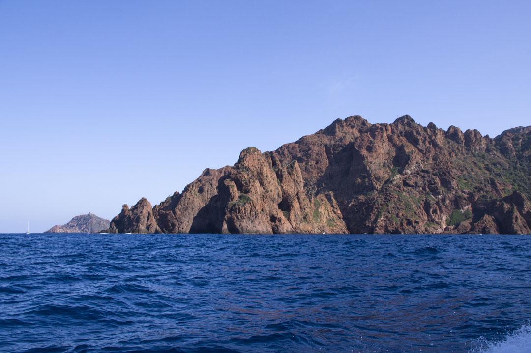 la réserve naturelle de la Scandola dans le golfe de Porto en Corse