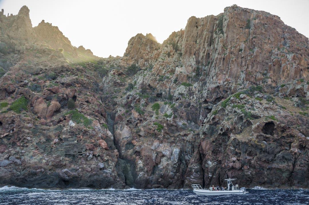 la réserve naturelle de la Scandola