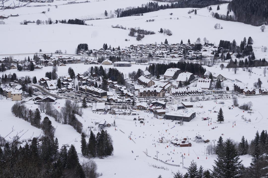 Point de vue sur la station de Métabief dans le Doubs - Montagnes du Jura