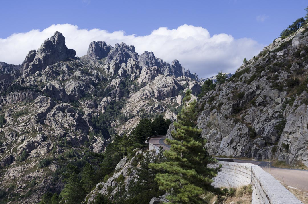 la route du Col de Bavella