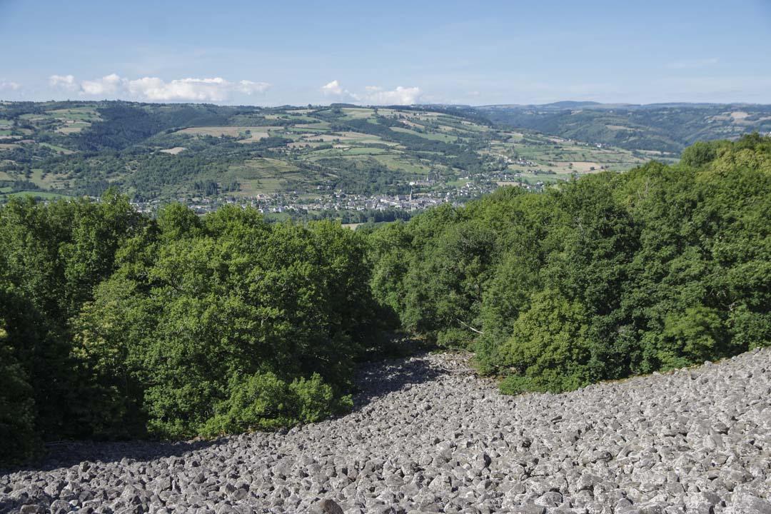 la coulée de lave de Roquelaure