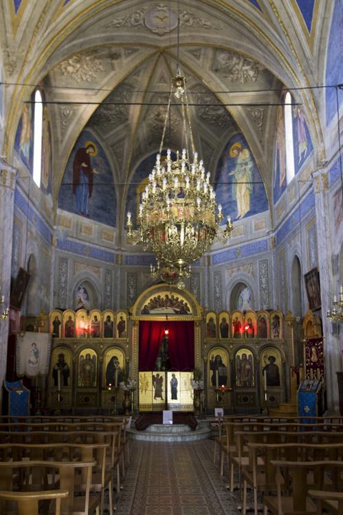 intérieur de l'église grecque de Carghèse