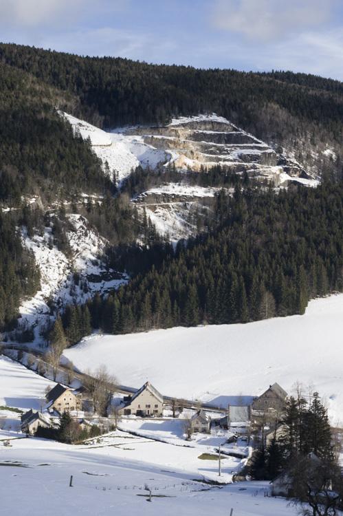 paysage hivernal dans le Vercors