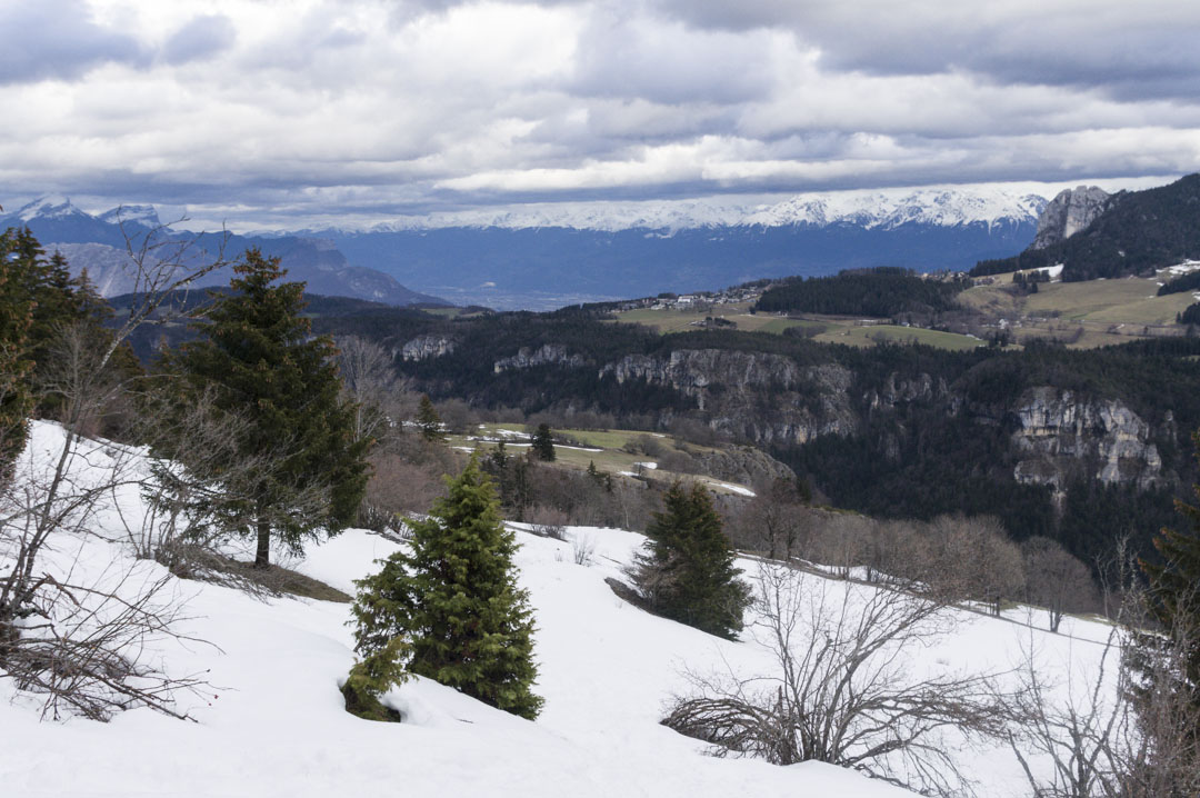 paysage du vercors en hiver