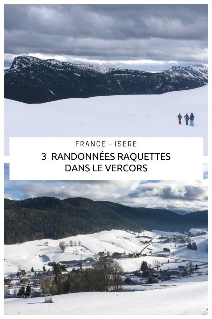3 itinéraires de randonnées raquettes à la journée à faire sur le Plateau du Vercors près d'Autrans