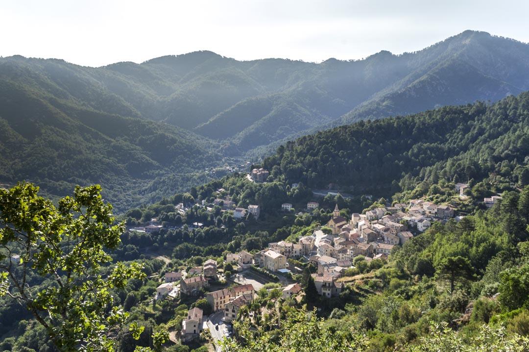 Le village de Vivario au sud de Corté