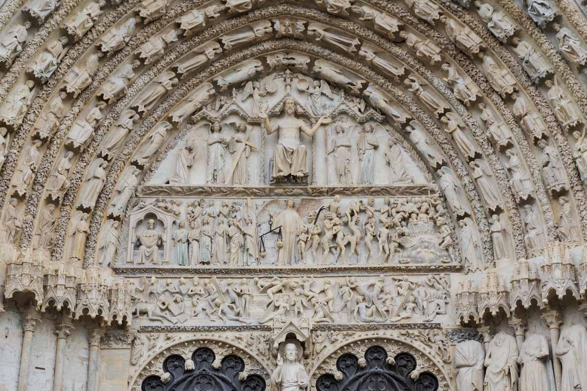 Tympan de la cathédrale de Bourges