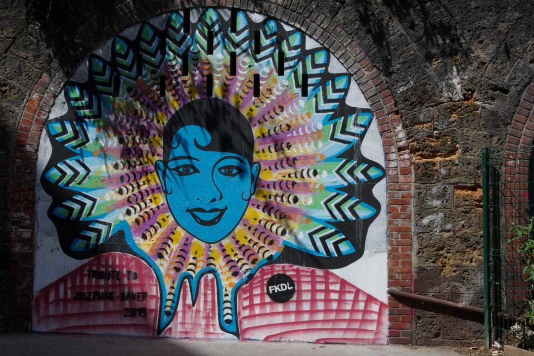 Fresque de street art représentant Joséphine Baker