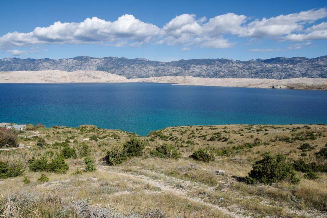 les paysages de l'ile de Pag en croatie