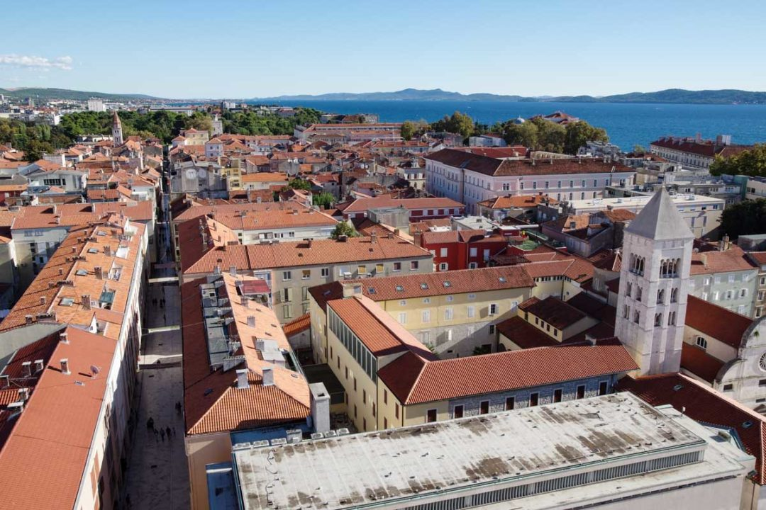panorama sur Zadar en Croatie