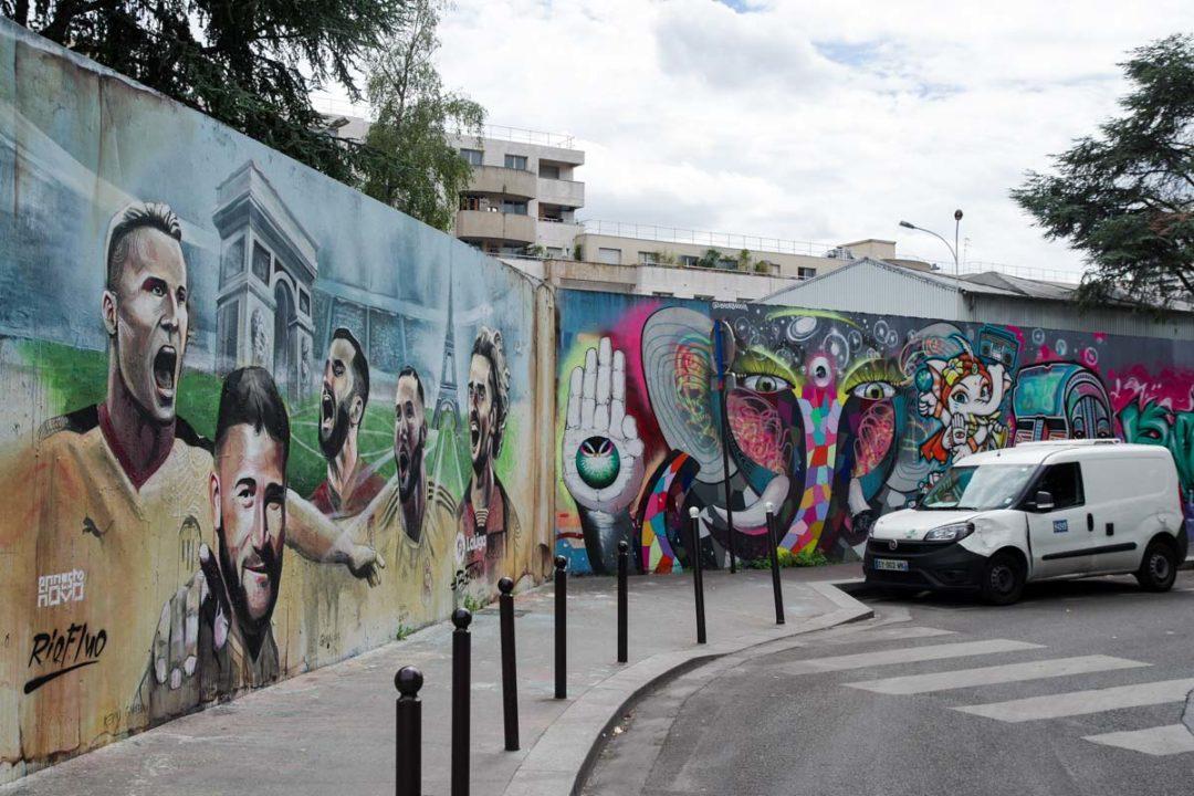 Street Art rue Germaine Taillefer à Paris