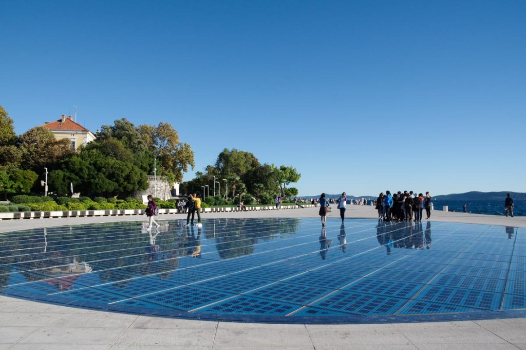 oeuvre contemporaine Salutation au Soleil à Zadar