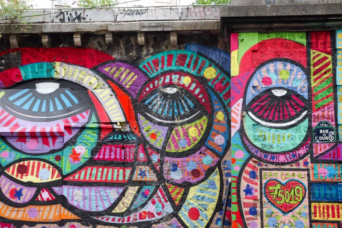 Balade Street Art autour du Canal de L'Ourcq à Paris