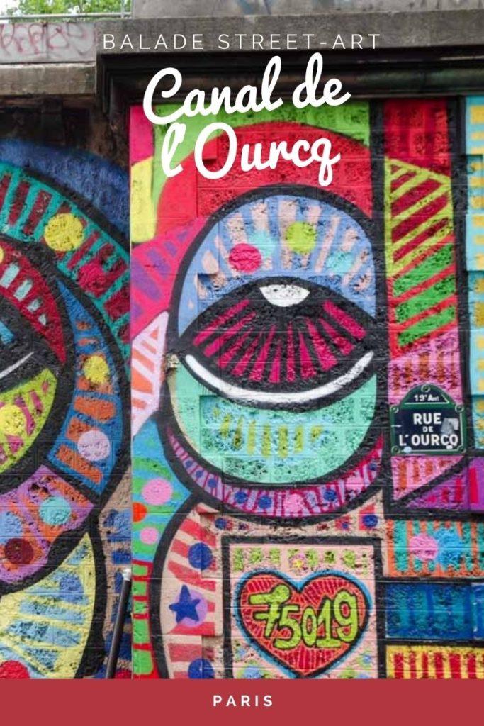 Balade Street Art à Paris autour du Canal de l'Ourcq dans le 19ème arrondissement
