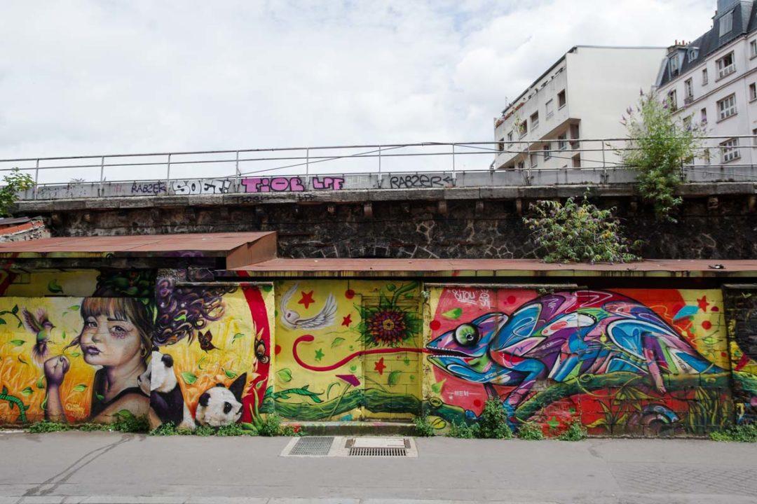 Fresque Street Art - Rue de l'Ourcq