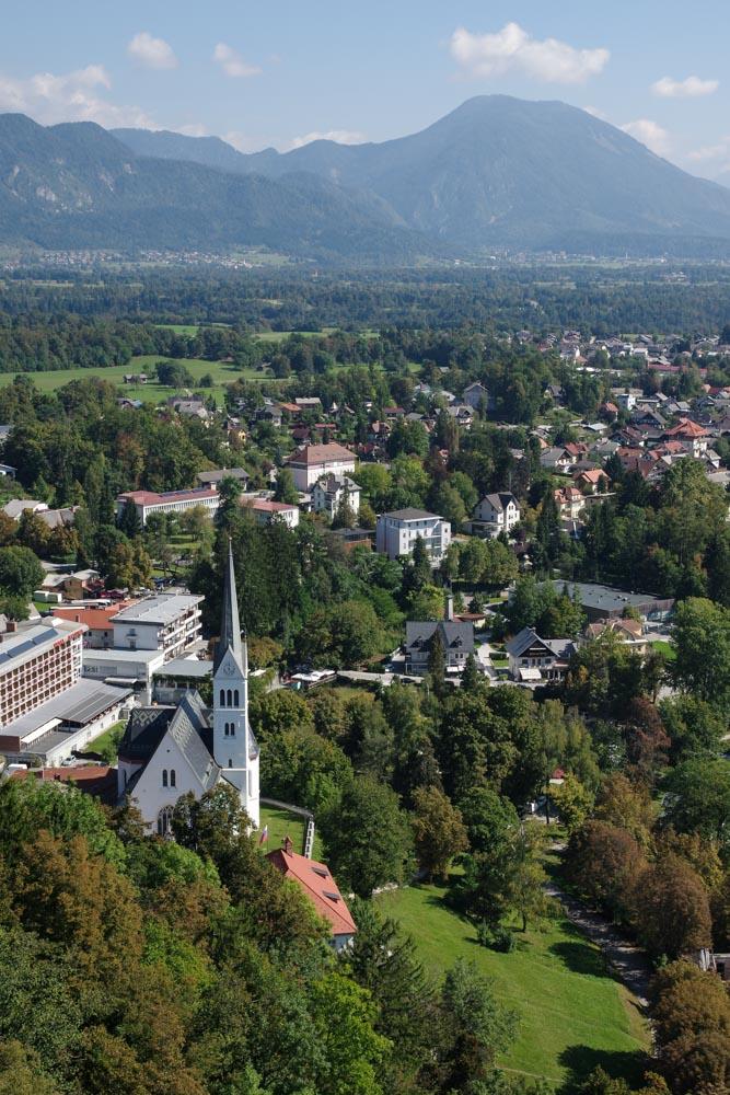 la ville de Bled en Slovénie