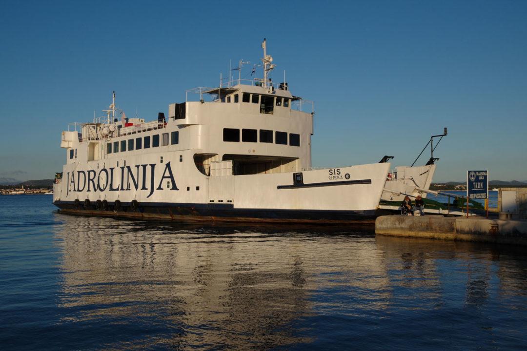 Ferry Jadrolinija pour aller sur les îles de Ugljan et Pasman