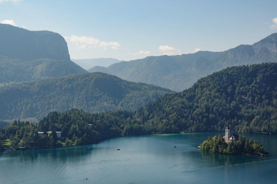 le lac de Bled en Slovénie