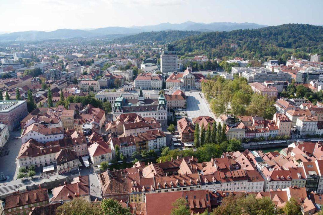 panorama sur la ville de Ljubljana depuis le chateau