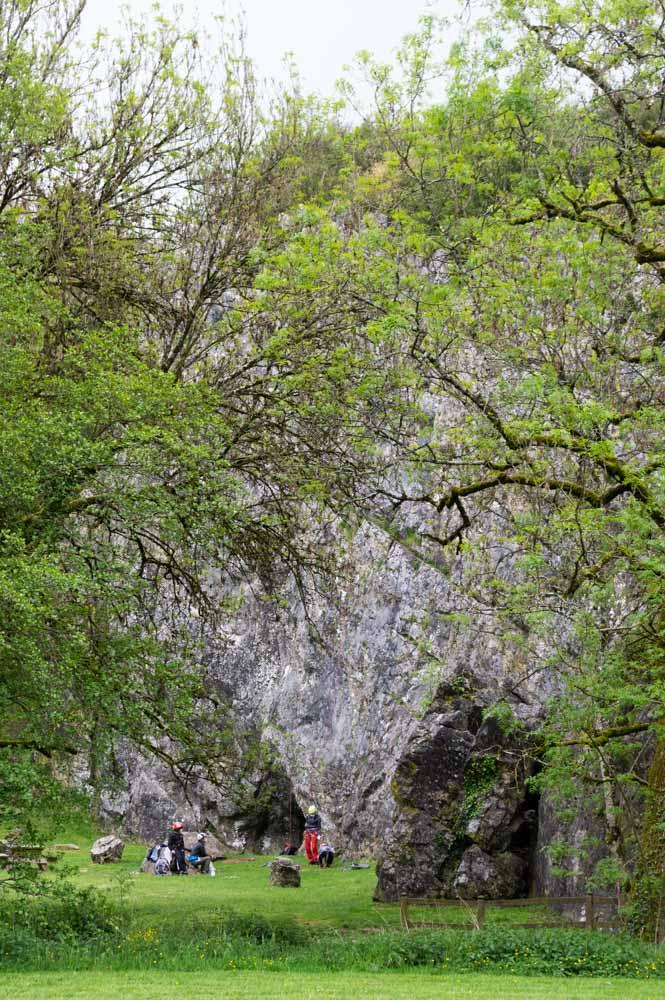 escalade sur les parois du canyon de Saulges