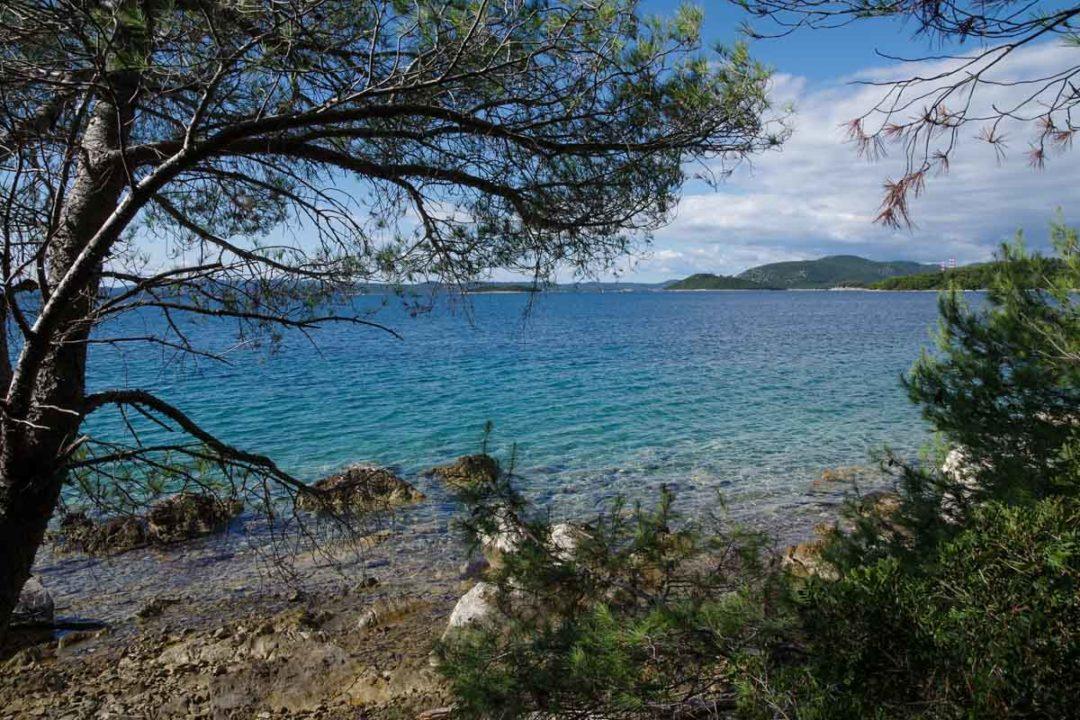 criques au sur de l'ile d'Ugljan en Croatie