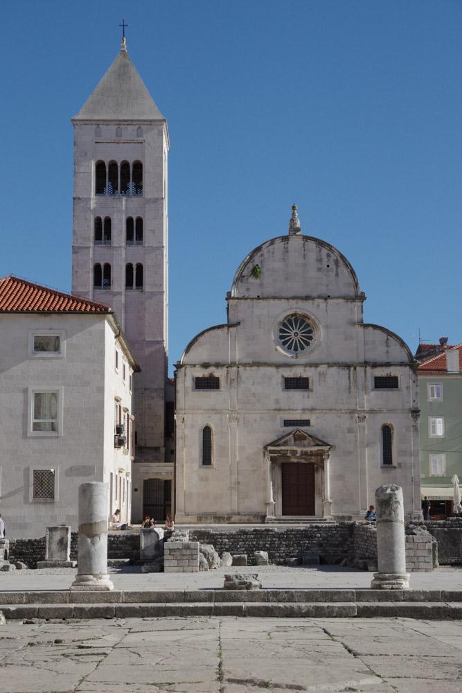centre ville de Zadar en Croatie