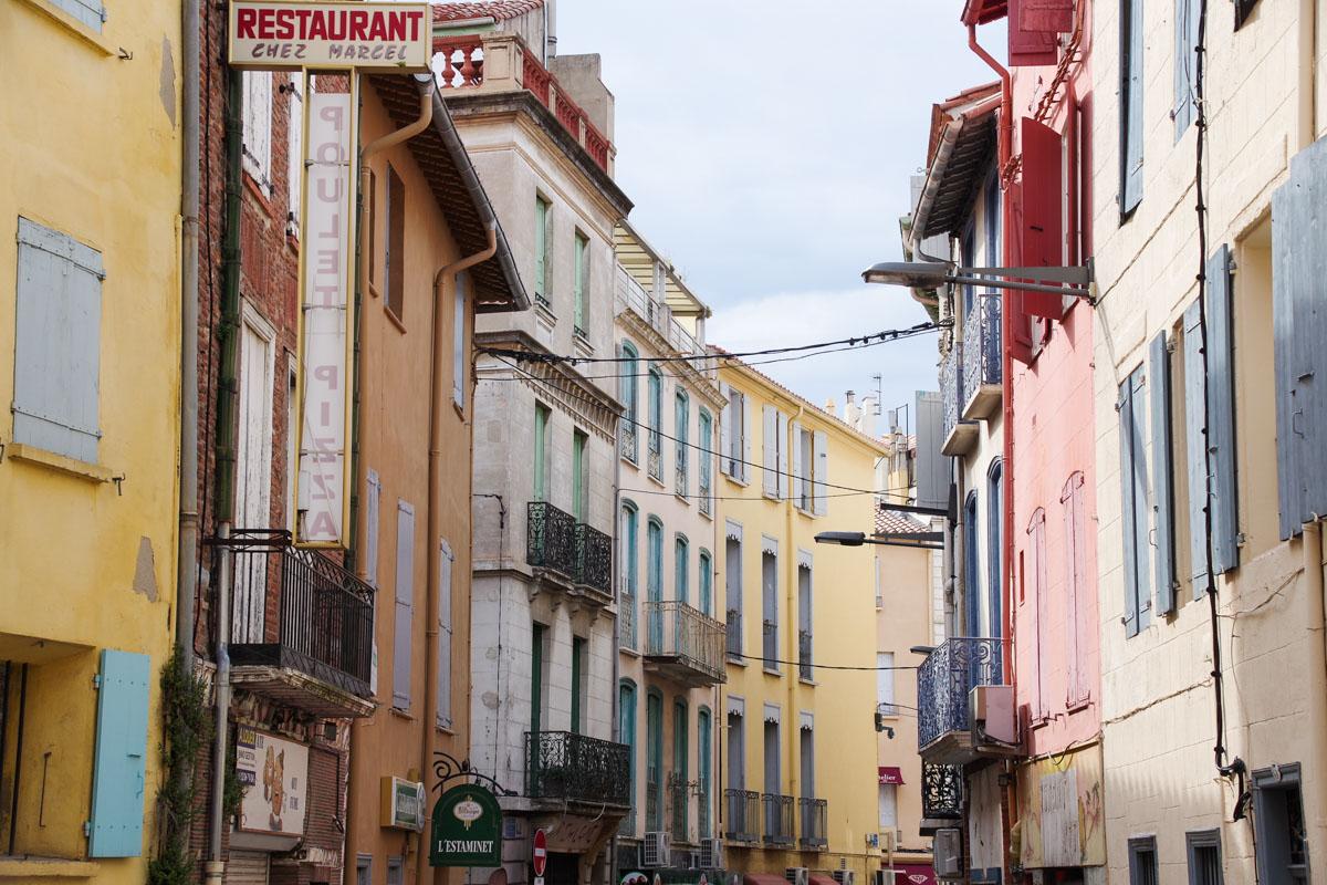 les façades colorées de Perpignan