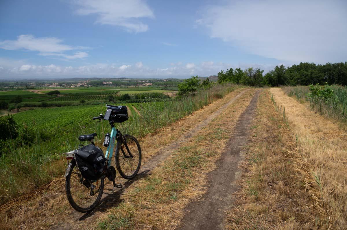 à vélo le long du Canal du Midi