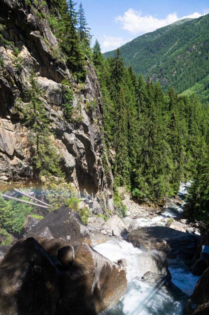 Cascade de Bérard près de Vallorcine