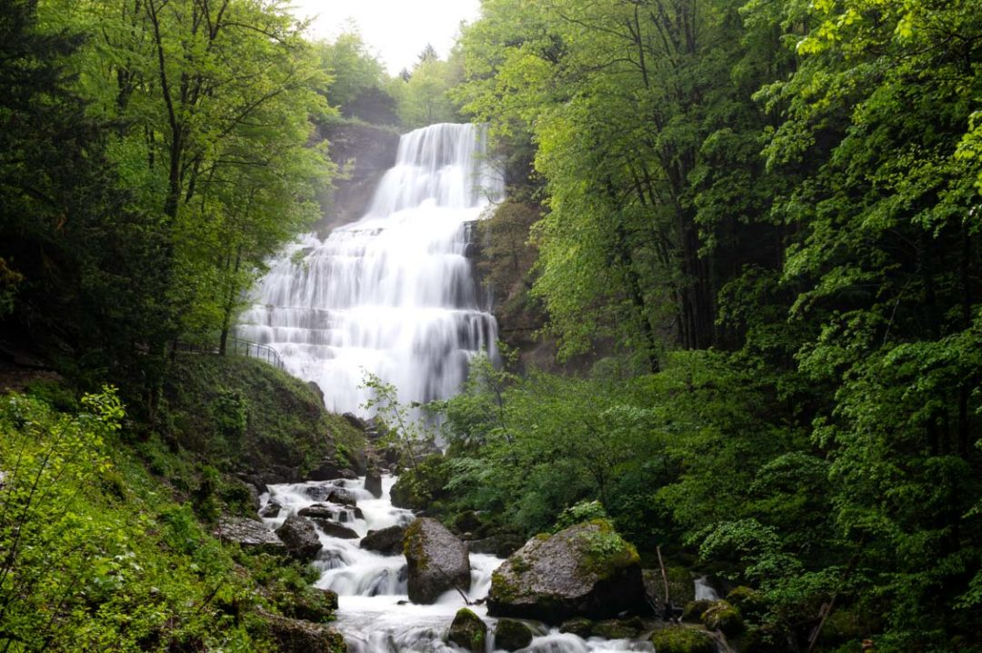 Cascade de l'Eventail - Cascade du Hérisson dans le Jura