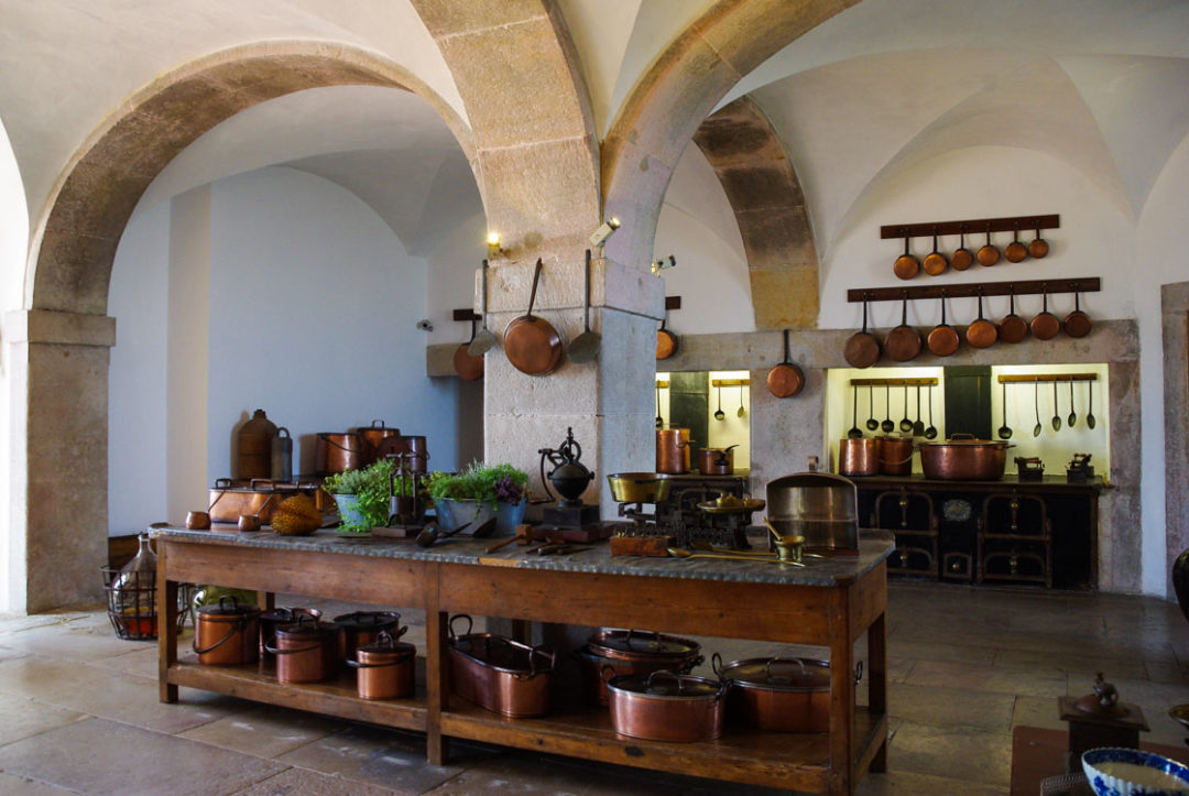 la grande cuisine du Palais de Pena