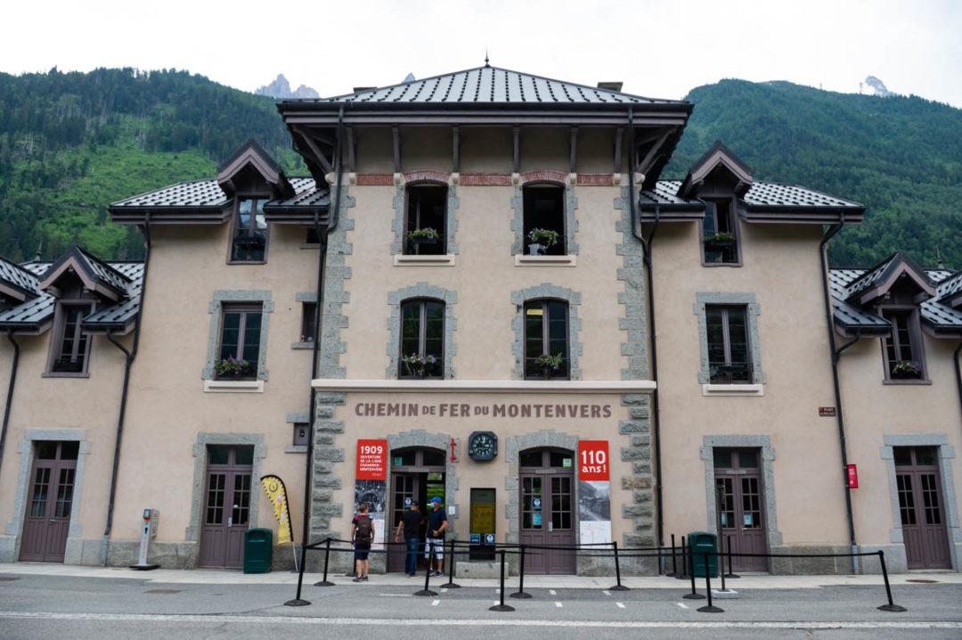 La gare du Chemin de Fer du Montenvers