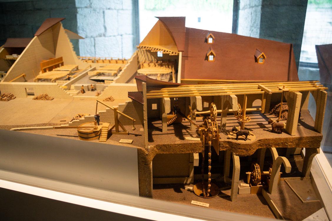 Maquette de la Grande Saline de Salins-les-Bains