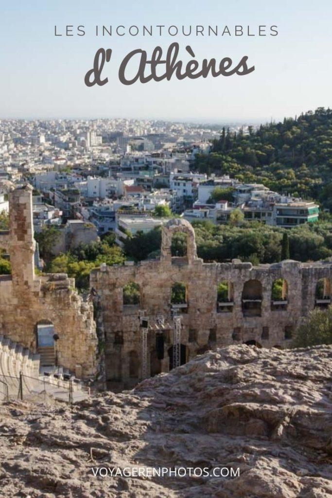 Le guide complet pour découvrir toutes les visites incontournables d'Athènes en un week-end : l'Acropole avec le Parthéon, le quartier de Plaka, le Stade Panathénaïque, le temps de Zeus ...