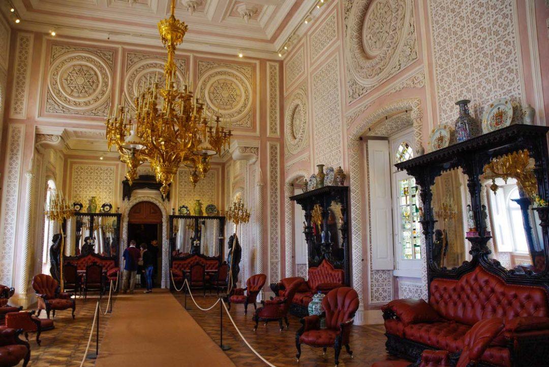 décoration intérieur du Palais de Pena