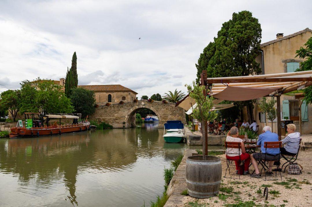 le hameau Somail au bord du Canal du Midi