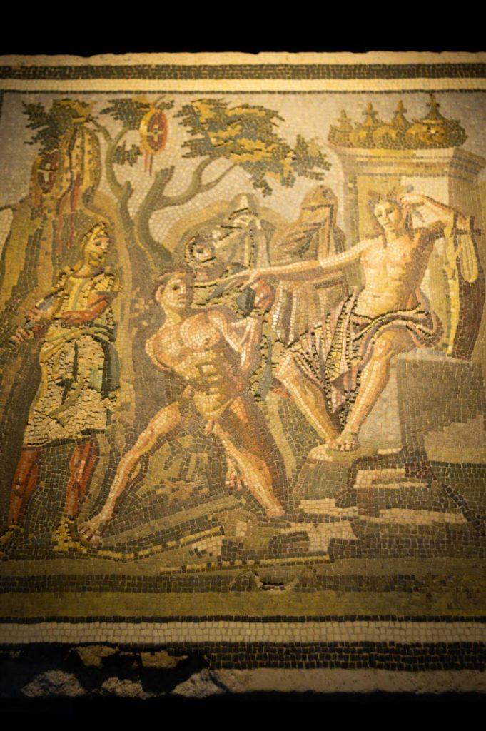 mosaique au musée de l'Ephebe à Agde