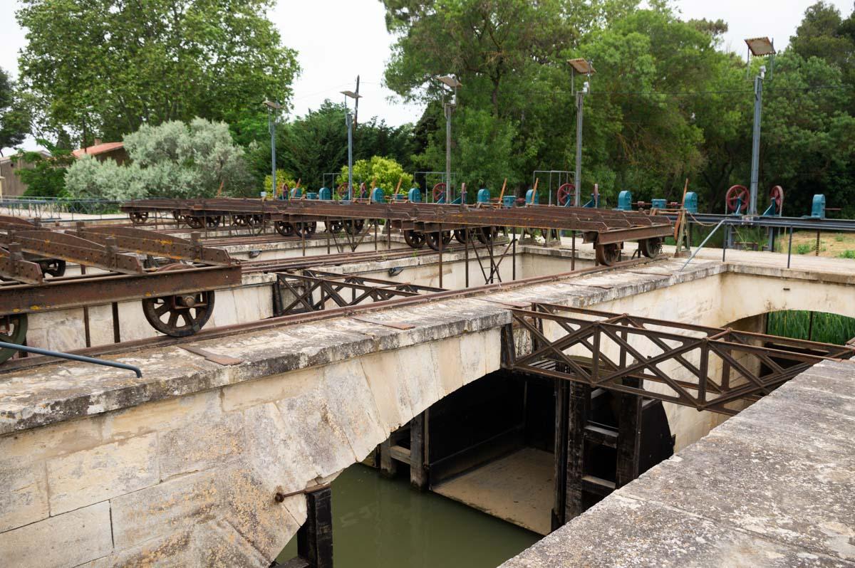 les ouvrages du Libron sur le Canal du Midi