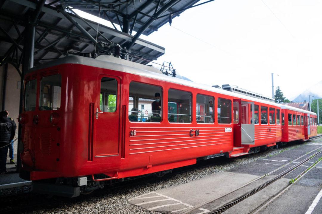 Le Petit train rouge du Montenvers