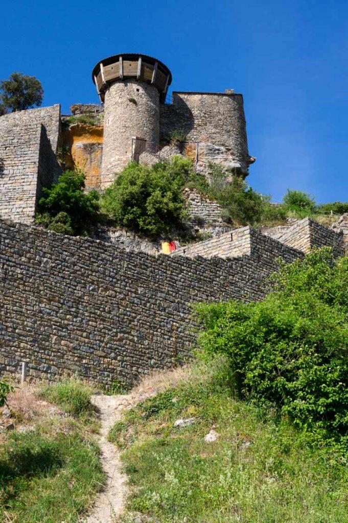 le donjon du Château de Peyrelade près des Gorges du Tarn