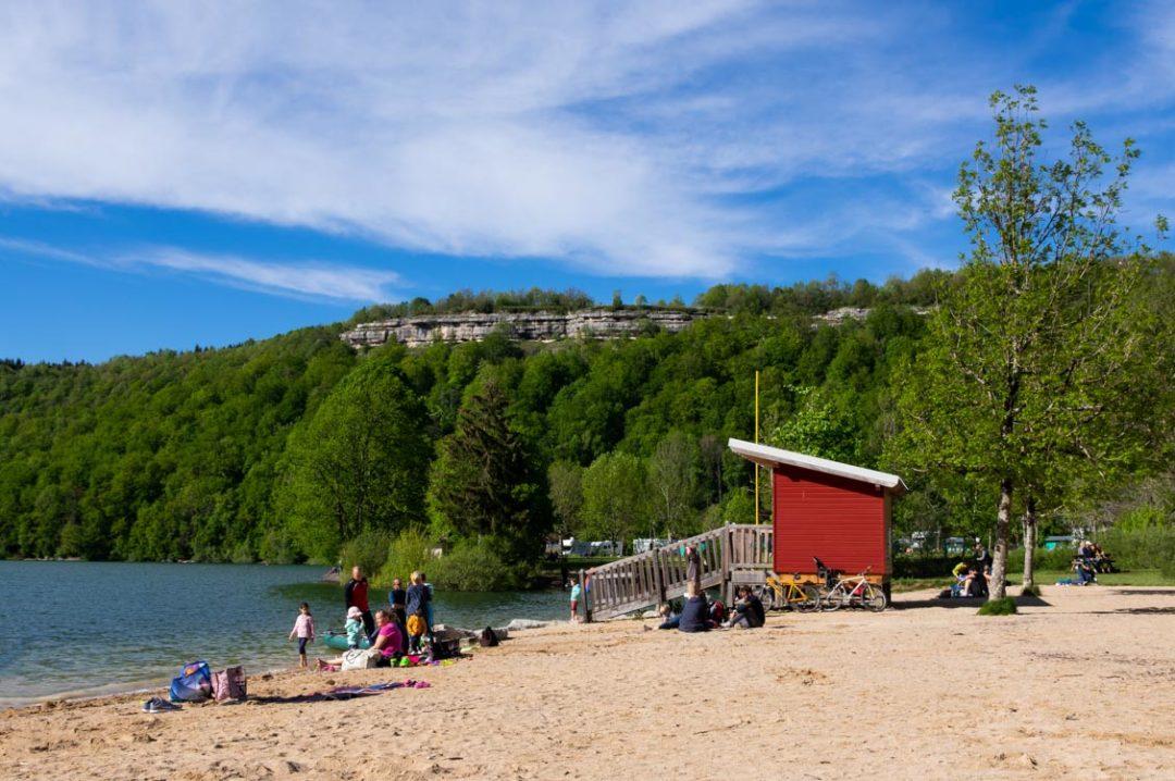 plage du Lac de Chalain