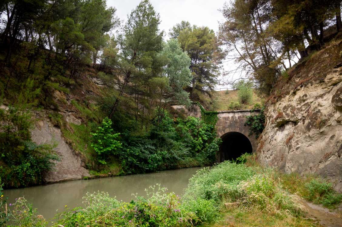 le tunnel du Malpas sur le canal du Midi