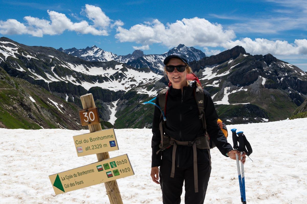 au sommet du Col du Bonhomme