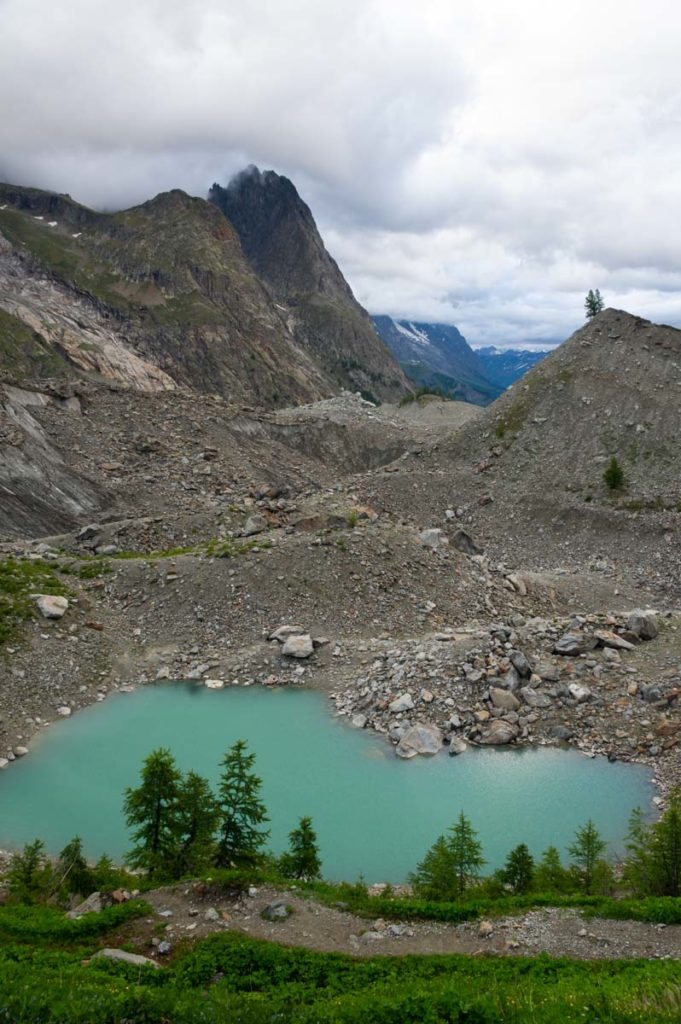 le lac glaciaire de Miage