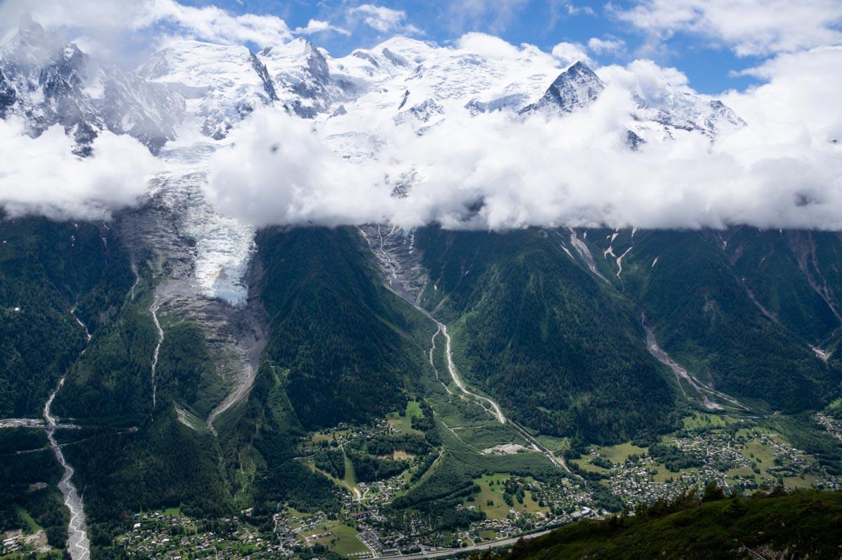 Vue sur le Mont Blanc depuis Bellachat