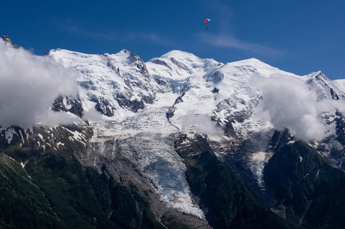 Parapente près du Mont Blanc
