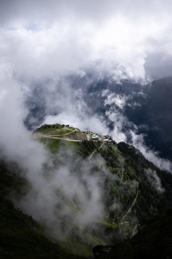 Planpraz dans les nuages